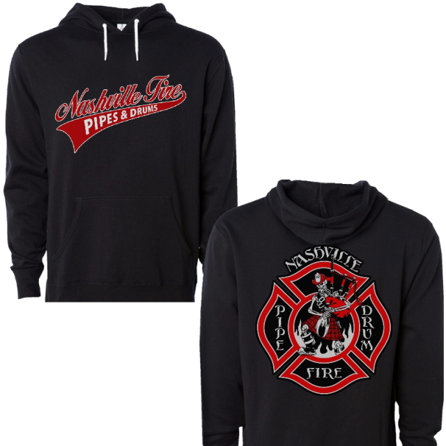 Nashville Firefighters Pipes and Drums Black Pullover Hoodie